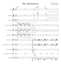 Instrumental solo in c major. The Mandalorian Theme Still Working On This One Sheet Music For Flute Drum Group French Horn Strings Group More Instruments Mixed Ensemble Musescore Com