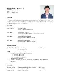Resume Business Administration Resume Business Manager Resume For