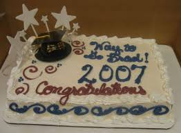 Simple Graduation Cake With Star Topper The Makery Cake Company