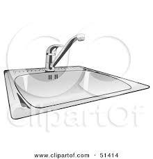 kitchen sink clipart black and white. shiny new kitchen sink by dero clipart black and white ,
