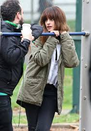"get anne hathaway s green military jacket from colossal fashion get anne hathaway s green military jacket from ""colossal"""