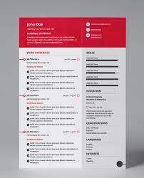 Modern Resume Pdf Striking Red Modern Single Page Cv Resume Modern Resume