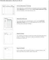 Free Printable Attendance Sheet School Attendance Chart Free