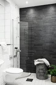 ergonomic dark grey tile bathroom ideas