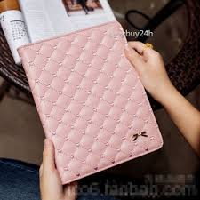 luxury bowknot leather smart case stand cover for apple 3 4 air air 2 mini