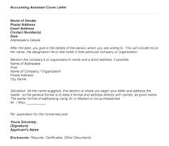 Resume Cover Letter For Accounting Position Cover Letters For