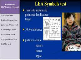 Lea Symbols Chart Printable Visual Acuity By Pd