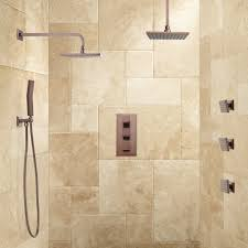 ryle dual wall mount rainfall shower system with handshower sprays