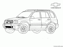 Disegni Da Colorare Jeep Chevrolet