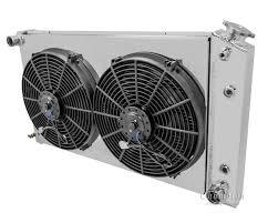 chevy chevelle radiator aluminum 4 row champion shroud amp champion 4 row radiator custom aluminum fan shroud cooling fan s