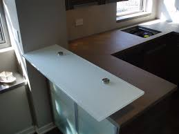 frosted glass countertops