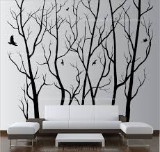 wall art decor vinyl tree forest decal sticker choose size design of wall tree decals of wall tree decals cool vinyl wall tree decals