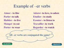 french er verbs conjugating er verbs in french