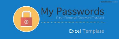 My Passwords - Your Personal Password Tracker Log — The Spreadsheet Guru