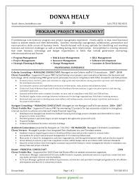 Sample Resume For Project Manager In Manufacturing it project manager resume template senior project manager r RS 20