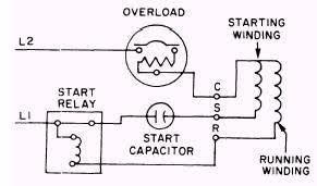 capacitor start run motor connection diagram throughout wiring single phase capacitor start motor at Single Phase Motor Capacitor Wiring Diagram