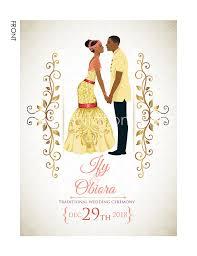 Traditional Wedding Invitation Nigerian Traditional Wedding Invitation Card Igbo Engagement