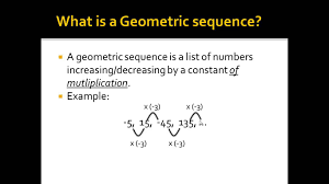 Geometric Sequence Example Alg II Geometric Sequences Definition YouTube 14
