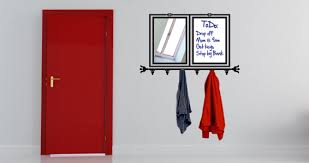 Coat Rack With Mirror All In One Whiteboard Coat Rack Mirror Wall Sticker Dezign With A Z 52