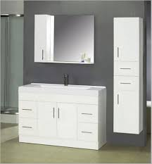 Bathroom High Cabinet Natural Modern Bathroom Wall Cabinet Design With Wooden Materials