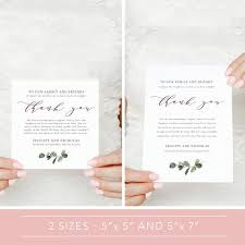 Wedding Thank You Notes Templates Greenery Wedding Thank You Note Template Wedding Table Thank You Editable Thank You Card Reception Thank You Cards Guest Thank You Sn014f_ty