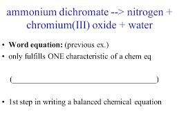 6 ammonium dichromate