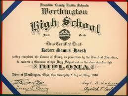 High School Deploma High School Diploma Worthington Memory