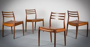 iconic modern furniture. streamlined quality a set of four model 78 chairs by niels moller danish iconic modern furniture