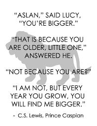 Narnia Quotes Gorgeous CS Lewis Prince Caspian Aslan Quote Free Download Printable