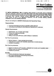 Job Description Of A Barista For Resume 24 Sample Resume For Barista Position Barista Job Description Head 14