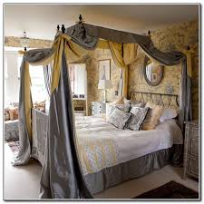 Excellent King Size Canopy Bed With Curtains Pictures - Best idea .