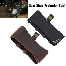 details about motorcycle leather boot shifter cover sock gear shoe protector boot guard cover
