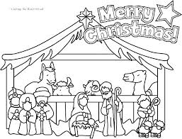 Fresh Nativity Coloring Pages To Print And Nativity Coloring Pages