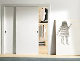 pure white interior sliding closet doors