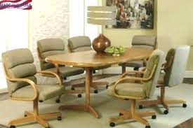 kitchen table and chairs with wheels wood table with wheels dining table with rolling chairs awesome