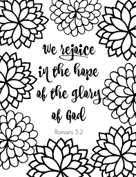 Romans 5 2 We Rejoice image free printable scripture verse coloring pages what mommy does on printable address book pages