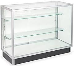 Free Standing Display Cabinets Amazon FreeStanding Glass Display Cabinet Tempered Glass 36