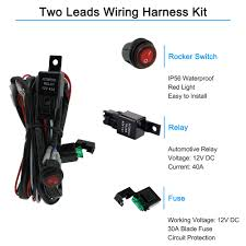 popular light wiring kit buy cheap light wiring kit lots from 12v Wiring Harness With Relay dc 12v car bus boat rv off road led light bar wiring harness kit 40a relay 12V Relay Pinout
