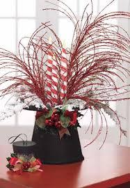 raz upturned black top hat christmas decoration