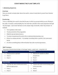 Proposal Template Free Impressive Event Marketing Plan Template Free Word Documents Download Free