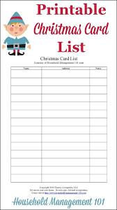 Printable Christmas Gift List Template Christmas Card List Printable Plan Who Youll Send Cards To