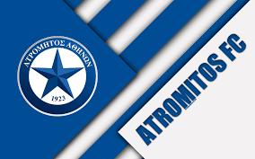 Scarica sfondi Dell'atromitos FC, 4k, blu, bianco astrazione, il logo, il  design dei materiali, greco di calcio per club, supercoppa di Lega,  Peristeri, la Grecia, la Superleague Grecia monitor con risoluzione  3840x2400.