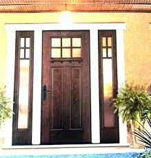 fiberglass entry door with sidelights front s doors single
