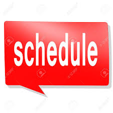 Schedule Word Schedule Word On Red Speech Bubble Image With Hi Res Rendered