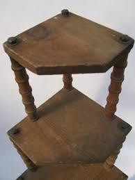 wooden corner shelves furniture. Contemporary Furniture Primitive Depression Era Vintage Folk Art Wooden Spool Furniture Corner  Shelf For Wooden Corner Shelves Furniture