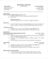 science resume format