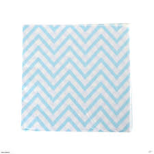 Light Blue Chevron Paper Napkins Packet Of Light Blue Chevron Paper Napkins 20pcs