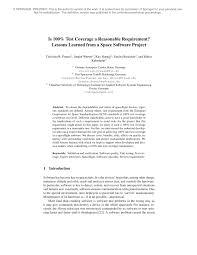 (PDF) Is <b>100</b>% <b>Test</b> Coverage a Reasonable Requirement ...