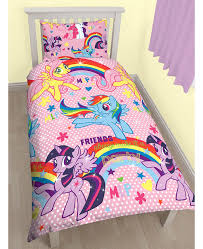 my little pony party single duvet cover and pillowcase set