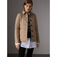 Diamond Quilted Jacket in Canvas - Women | Burberry United States & Diamond Quilted Jacket in Canvas - Women | Burberry United States - gallery  image 0 Adamdwight.com